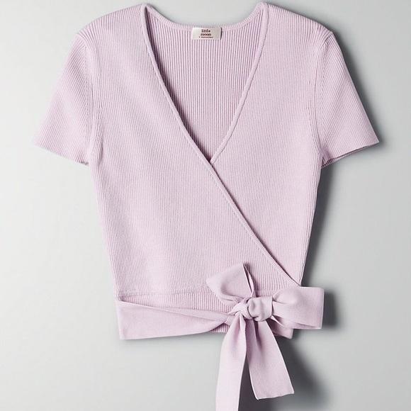 Little Moon Prunella Lilac Knit Top
